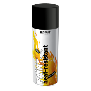 Σπρέι Υψηλής Θερμοκρασίας Μαύρο 600οC 400ml Biodur