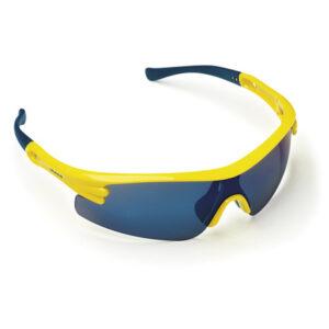 Γυαλιά Ηλίου 6018 Μπλε Με Καθρέφτη Και Κίτρινο Σκελετό Maco
